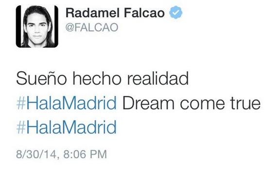 Falcao et le tweet qui a tout d�clench� !