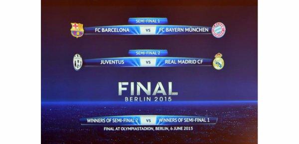 Champion's League: les demi-finales