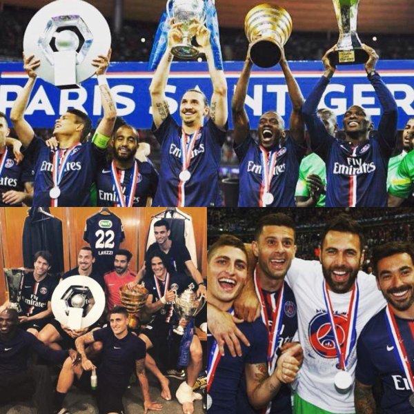 Les joueurs du PSG fêtent leur victoire !