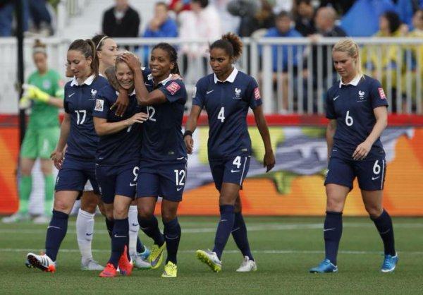 Mondial de foot féminin: Les Bleues commencent bien