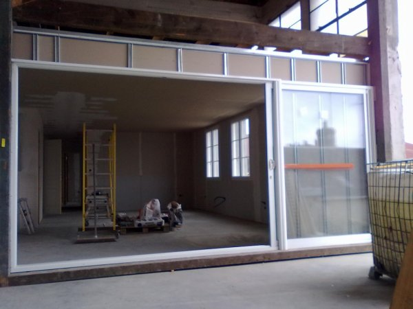 baie vitr e galandage position ouverte mon premier immobilier o. Black Bedroom Furniture Sets. Home Design Ideas