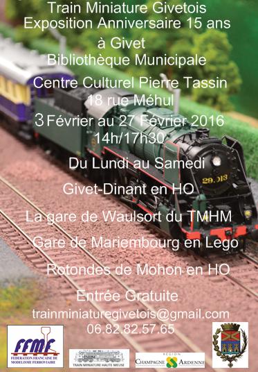 15 ans du club Train Miniature Givetois