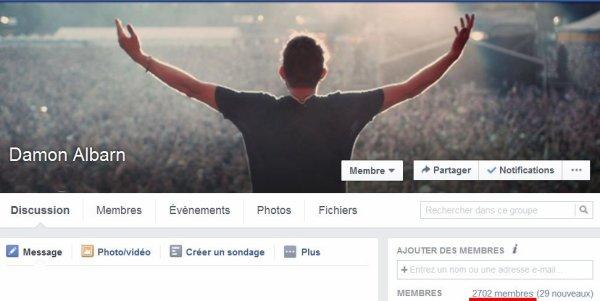 Plus de 2700 membres sur notre groupe facebook!