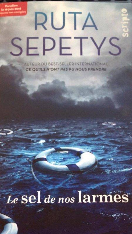 Le sel de nos larmes, de Ruta Sepetys chez Gallimard
