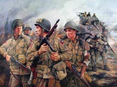tableau de la 82 airborne - la seconde guerre mondiale coté américain