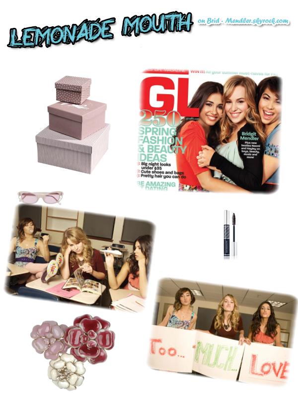 .   « Les filles du cast de  Lemonade Mouth posent pour le magazine   Girl's Life »           .