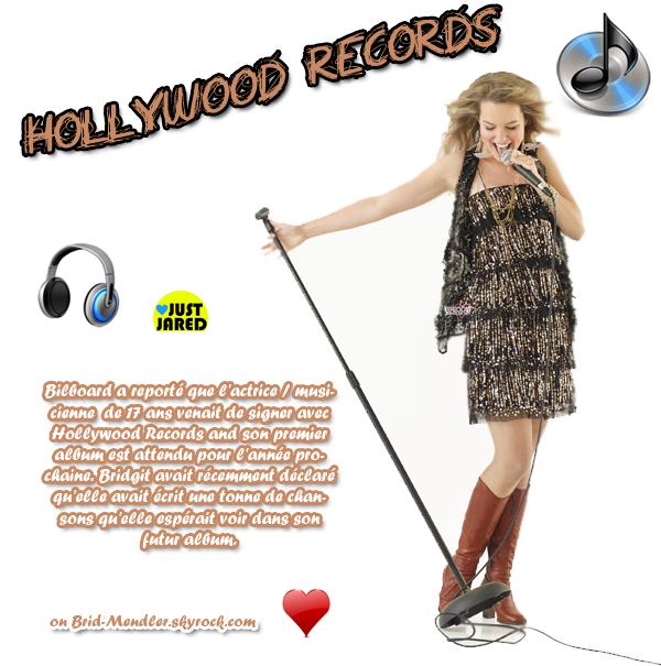 .   « Très bonne nouvelle pour Bridgit Mendler qui voulait enregistrer un disque à elle seule !  »               .