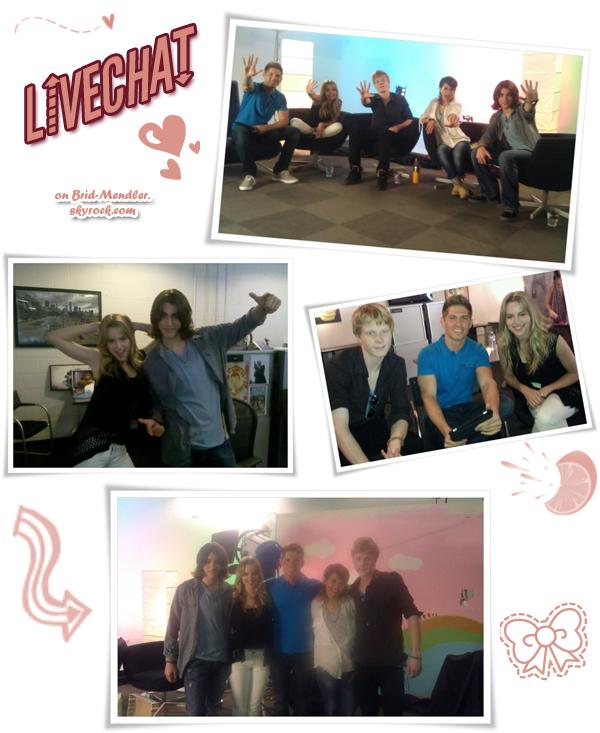 .        « Bridgit & ses co-stars de  Lemonade Mouth au live chat de DC-Usa ce    7 Mai  »                .