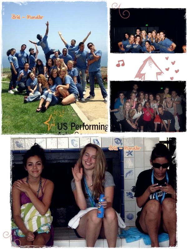 .        « Bridgit en vacances aux  US Perfoming Arts Camp  environ en 2009. »                 .