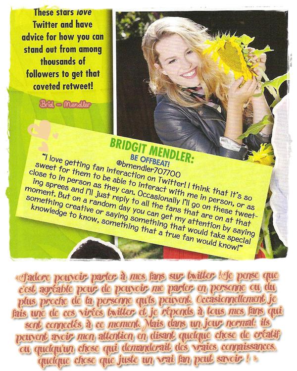.        « Bridgit dans l'édition de juillet de   Pop Star Magazine   ( photos  inédites + interview )  »                 .