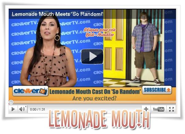 .   « Vidéo qui annonce la venue du cast de   Lemonade Mouth   dans la série So Random !»           .