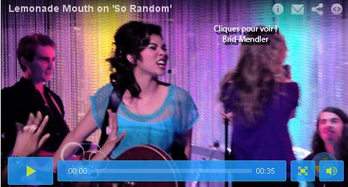 .        « Lemonade Mouth sur le plateau de la série Disney  So Random !  »                 .