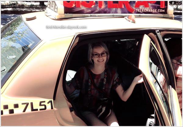 26/07/12   Bridgit est montée à bord du bus pour la campagne Target à New York, le matin.