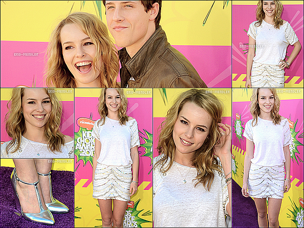 Bridgit à la cérémonie des Kids Choice Awards.