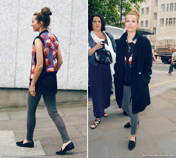 21 Juin 2013   Bridgit arrivait sur le plateau de DayBreak à Londres pour sa promo'