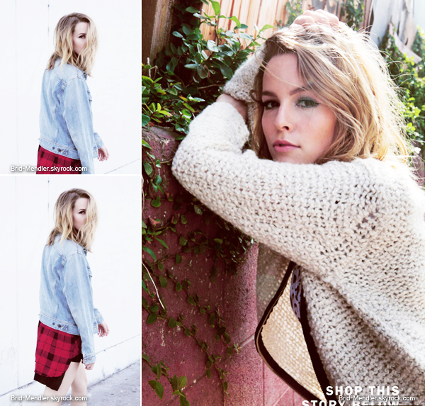 Bridgit a pris part � un photoshoot et � une interview pour le site Aritzia