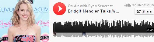 Bridgit a rapidement parlé à Ryan Seacrest lors d'une interview radio