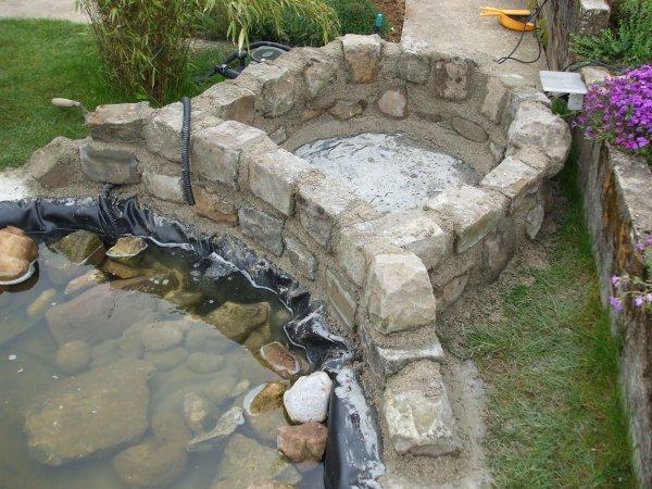 Ma nouvelle cascade voici la pr sentation de mon bassin for Photo de bassin de jardin avec cascade