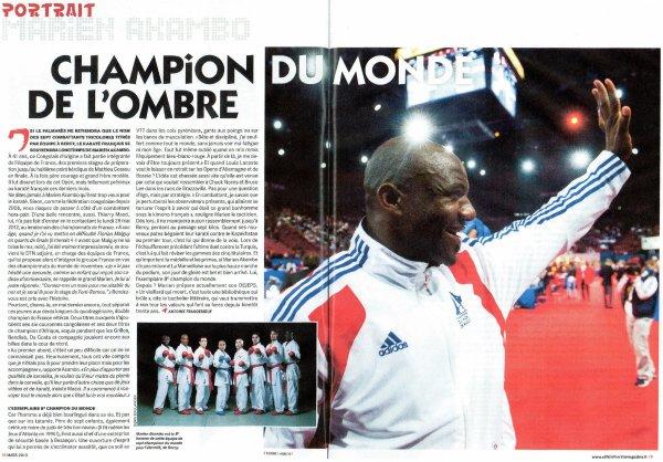 KARATE: CHAMPIONNAT DE FRANCE 1ère DIVISION  Marien AKAMBO médaillé de bronze à Toulon le 06 Avril 2013