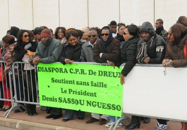Le président Denis Sassou Nguesso à l'Elisée..