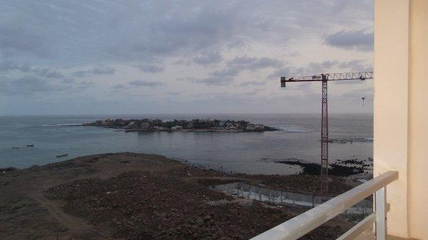 jeudi 14 août 2014 08:55 vue sur la mer depuis l'hôtel NGOR