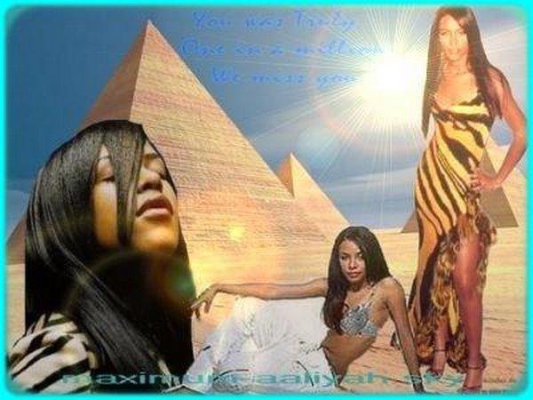 Un de mes premiers montages! (Aaliyah et l'Egypte)