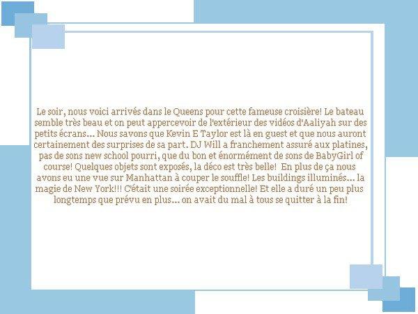"""Le soir: en route pour """"The Aaliyah Memorial Cruise""""!"""
