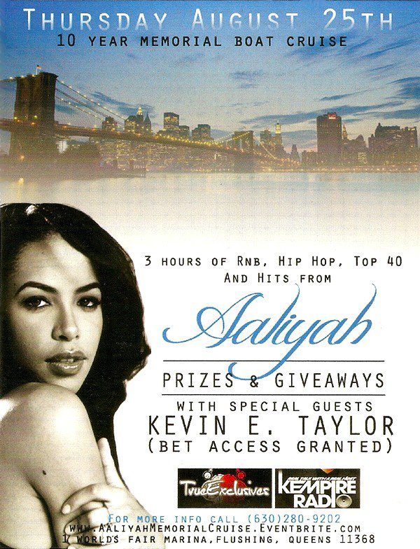 "Le soir: en route pour ""The Aaliyah Memorial Cruise""!"