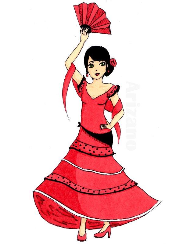 Mon dessin flamenco d arizano dessiner cr er imaginer - Dessin espagne ...