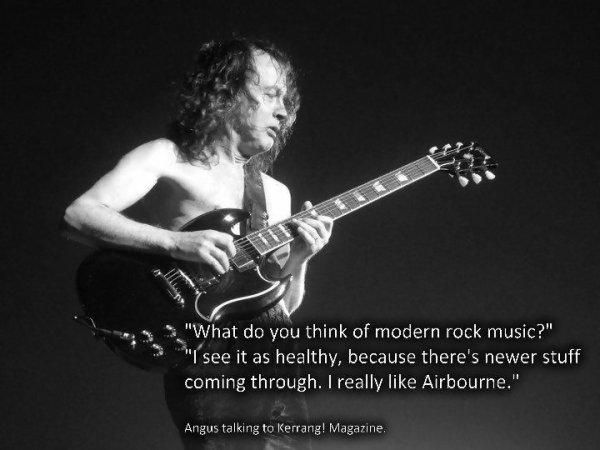Un groupe de hard rock australien constitu� � Sydney en 1973 par les fr�res Angus et Malcolm Young: AC/DC ! (l) (l) ♫♥♫♫♥