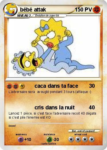 Ma carte pokemon simpson the beatles blog - Carte pokemon imprimer ...
