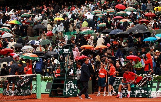 Roland Garros 2012 / 15 : Finale report�e, pluie et pluie