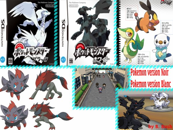 Pokemon noir et pokemon blanc *_* 5e génération (+ recapitulatif)