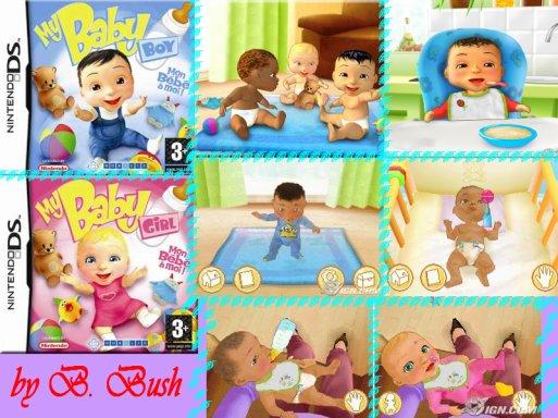 Jeu DS de simulation Bébé : My baby boy / girl, My baby 2 et My baby 3