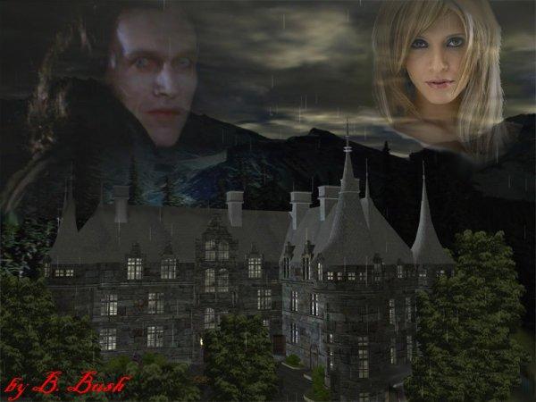Valek et moi dehors autour de la propriété (autour du chateau)
