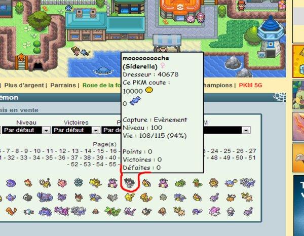Surnoms de pokemon à la con sur PPBO XD