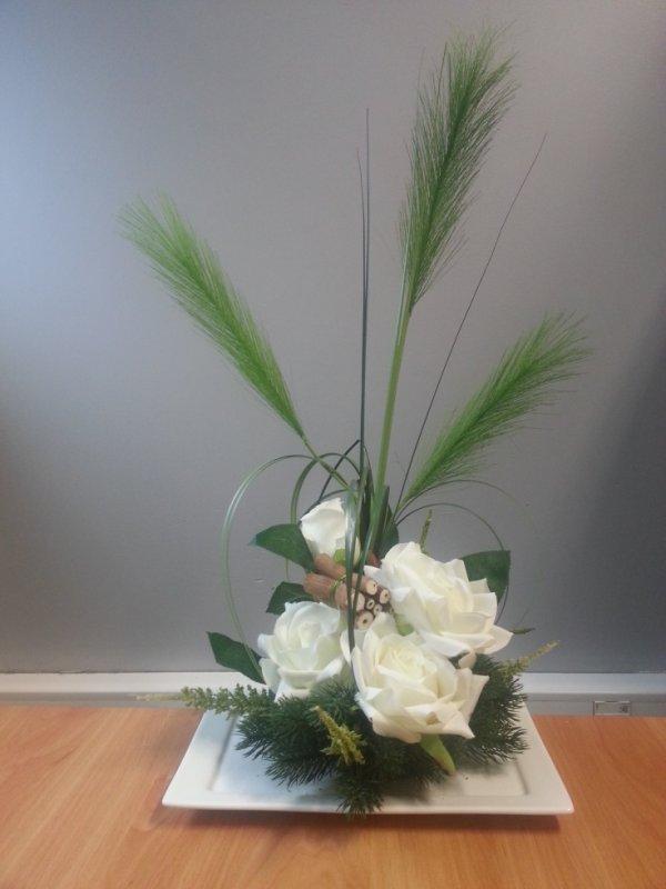 Ma 1ere créa : Composition florale faite le 17/11/2016