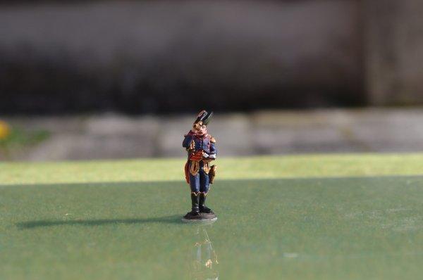 Diorama bataille de Reims du 13 Mars 1814 général de division Sorbier et capitaine adjoint d'état-major