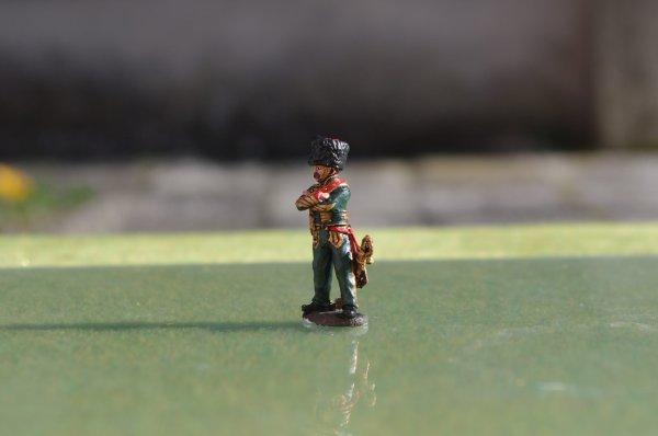 Diorama bataille de Reims du 13 Mars 1814 officier et sous-officier des chasseurs à cheval de la garde
