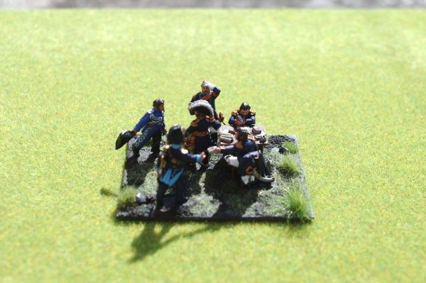 Diorama bataille de Reims du 13 Mars 1814 petit �tat-major de Napol�on 1er