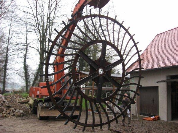 Cr ation d 39 une roue eau pour g n rer de l 39 lectricit metallerie - Generer de l electricite ...