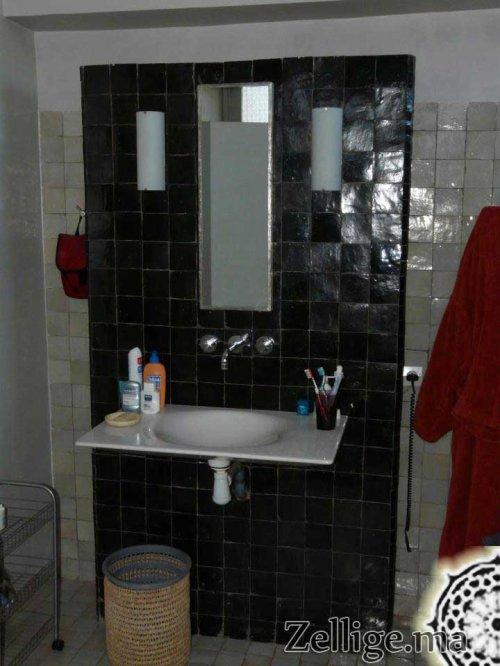 tr s bon d coration de salle du bain en mosa que zellige zellige marocain. Black Bedroom Furniture Sets. Home Design Ideas