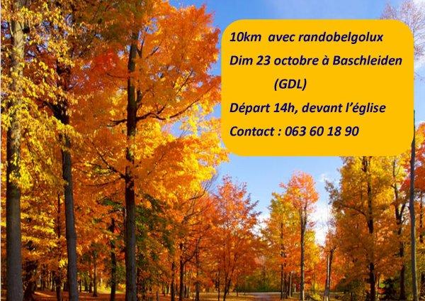 marche à Baschleiden en octobre