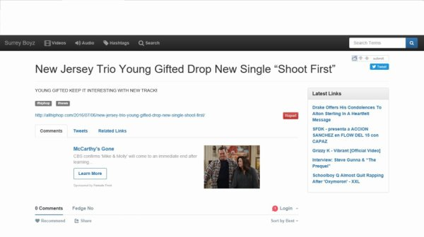 """Young Gifted new hit sngle Shoot First is featured on """"Surrey Boyz"""""""