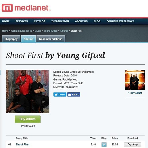 Get Young Gifted new single Shoot First available on MediaNet