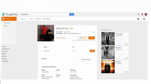 Young Gifted Shoot First is available on Google Play