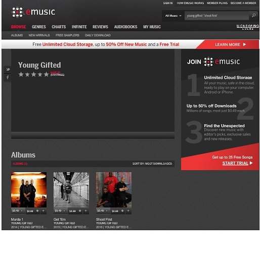 Shoot First by Young Gifted  Available on eMusic