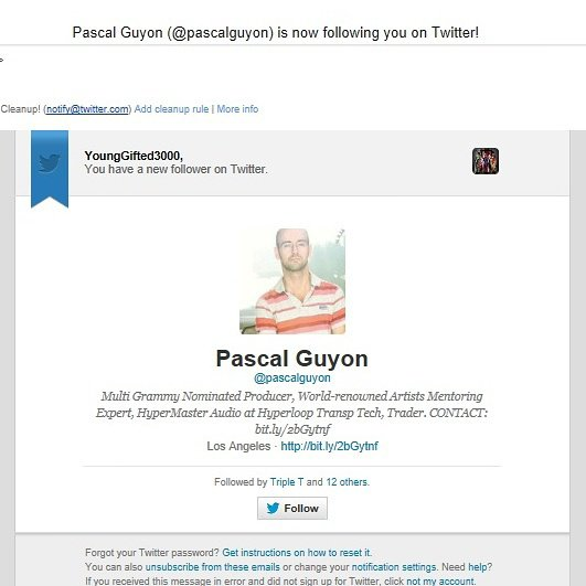 Grammy Nominated  Producer...Pascal Guyon Thanx 4 supporting yo  boyz...Young Gifted!!