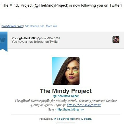 Mindy Kaling...Thanx 4 supporting The Young Gifted Movement