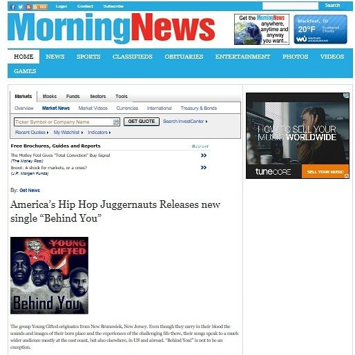 """Morning News... The New Single """"Behind You""""  by Young Gifted http://business.am-news.com/am-news/markets/news/read/33247399/"""